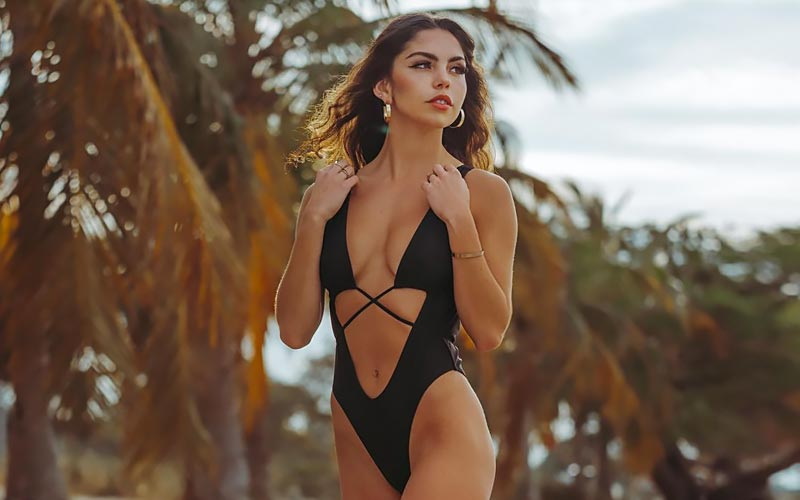 pretty latin woman walking